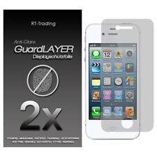 2x APPLE IPHONE 4 4S ANTI GLARE FINGERPRINT DISPLAY SCHUTZFOLIE FOLIE MATT