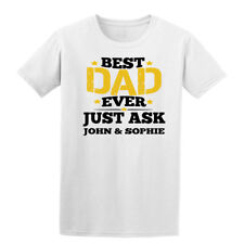 30e3c88b Customise best dad ever Mens T Shirts father's day 2018 gift personalized  Black