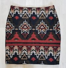 SEQUIN SKIRT size 12 patterned RED GOLD WHITE black CLUB L tube MINI xmas party