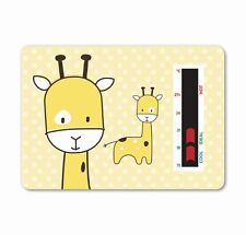 Yellow Baby Giraffe Room Thermometer - To help you maintain a safe temperature
