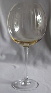 Yellow / Vertical Lines Balloon Wine Glass Goblet Mikasa Cheers Pastel Pattern