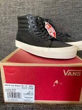 Vans Sk8-Hi Zip Weave Black Leather 9.5 NEW