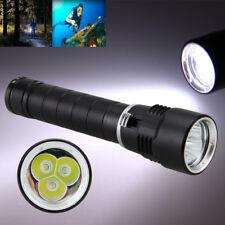Sous-marin 100m 10000LM 3x XML T6 LED Plongée Lampe de Poche 26650/18650 Lampe