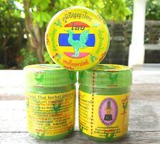 3 bottle thai herbs hong thai herbal inhalant traditinal nasal inhaler dizziness