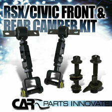 Fit 02 Acura RSX 01-05 Civic Front+Rear Suspension Camber Bolt Arm Rod Toe Kit