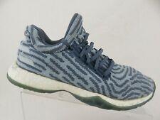 ADIDAS Harden Vol. 1 LS Primeknit Blue Raw Steel Sz 8 Men Basketball Shoes