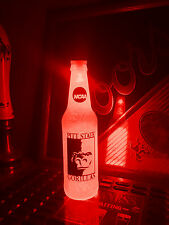 NCAA Pittsburg State Gorillas Football 12 oz Beer Bottle Light LED Bar Man Cave