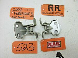 DOOR HINGE HINGES REAR PASSENGER RR R RH RIGHT CAR for 98 99 00 01 02 FORESTER