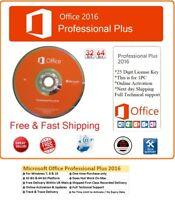 Microsoft Office Pro 2016 Professional Plus License Key & Genuine Install DVD