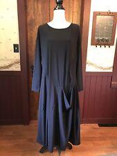 Alembika Women's Navy Nylon Blend Comfort Career Pocket Tunic Dress Size 5