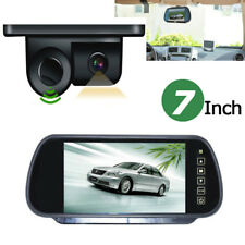 "7"" Car Rear View Mirror Monitor Night Vision 2 in 1 Radar CCD Parking Camera kit"