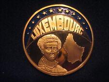 """MDS PP FARBMEDAILLE LUXEMBURG ECU 1997 """"RAUB DER EUROPA"""", VERGOLDET"""