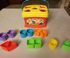 Fisher Price Shape Sorter Bucket W/ 12 Blocks Educational Toy FREE  SHIPPING