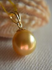 Rare Beauty South Sea Golden PEARL 14K Gold Pendant
