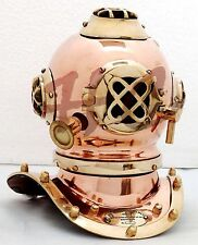 Antique Scuba Copper & Brass Diving Helmet US Navy Mark V Deep Sea Marine Divers