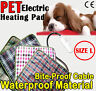 Size L- Pet Electric Waterproof Heat Heated Heating Pad Mat Blanket Bed Dog Cat