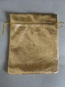 Geschenkbeutel Schmuckbeutel  Gold farben   10 Stück