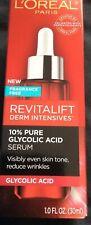 L'Oreal Revitalift Derm Intensives 10% Pure Glycolic Acid Serum 1.0 fl oz New