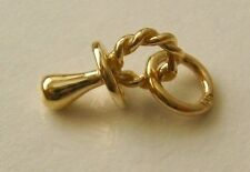 SOLID 9K 9ct Yellow Gold 3D BABY DUMMY New Born Charm GIFT Pendant RRP$109