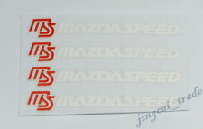 4 pcs MS White MAZDASPEED Logo Car Auto SUV Sticker Decal Badge OEM For Mazda
