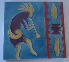 Kokopelli Fertility Joy Feast Long Life Decorative Ceramic Wall Art Tile 8x8