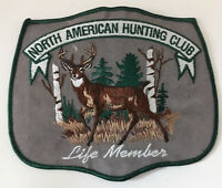 """North American Hunting Club Patch """"Life member"""" large size 5-1/8 X 6-1/4 inch"""