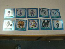 1996 Topps Yu-Gi-Oh! Sticker Collection Silver Foil 1-10 SET