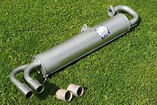 * TOYOTA MR2 Mk1 NEW REAR EXHAUST BOX  WITH TWIN TAIL PIPE. 3 YEAR GUARANTEE