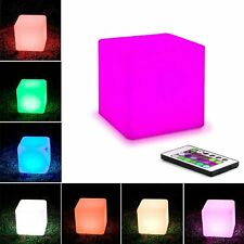 LED Cube Mood Light 16 RGBW Colors 5 Levels of Brightness Remote Control