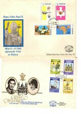 Kenya - 2 covers from the 80s - Papal visit & Diana/Charles wedding