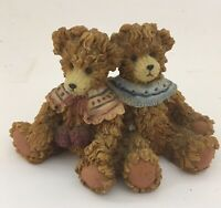Vintage Original ARTMARK Bear Figurine Resin Two Bears 3.5 inches