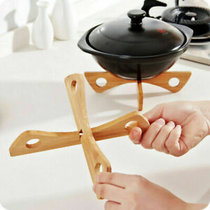 Multifunction Bamboo Steamer Rack Durable Pot Steaming Tray Stand Table Mat
