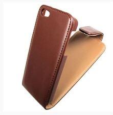Housse Etui à rabat sur mesure façon cuir marron beige pour APPLE IPHONE 5 et 5S