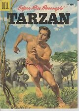 1955 Tarzan #69 Comic Book GOLDEN AGE Edgar Rice Burroughs Jungle Dell Pulp VTG