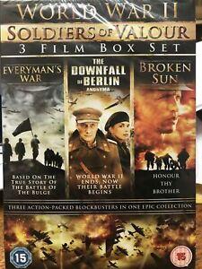 WORLD WAR II SOLDIERS OF VALOUR 3 FILM BOX SET BRAND NEW SEALED
