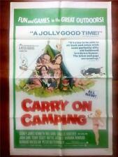 CARRY ON CAMPING ORIGINAL VINTAGE NUDIST CAMP COLONY RESORT US UK FILM POSTER