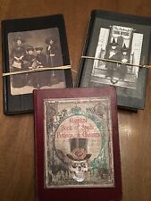 OOAK Halloween Hand Crafted Witch Spell Books  Prop Decoration Lot Of 3