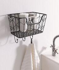 Wandkorb Füllkorb Hängekorb Handtuchhalter Schlüsselhaken Metall Küche Bad