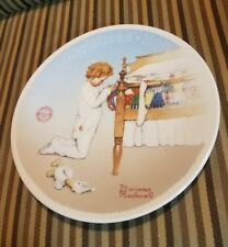 Norman Rockwell Christmas Collection Series Plate 1990 A Christmas Prayer
