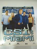 CSI  Miami Primera Temporada 1 Completa Caja Grande 6 x DVD Español Ingles