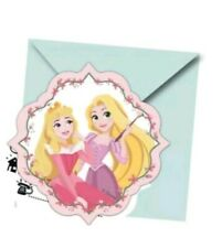 Disney Princess Party Invitation card with envelopes (Pack Of 6)