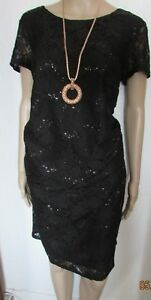 NWT BLACK SEQUIN STUNNING LACE MATERNITY DRESS SIZE 18