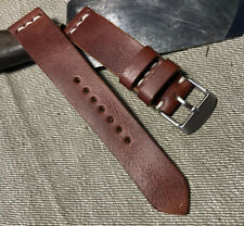 Handmade 20mm Brown leather.  quality watch strap.
