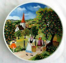 Royal, Porzellan Erntezeit KPM Bavaria /  Germany Plate, Harvest, Elfi Dorn