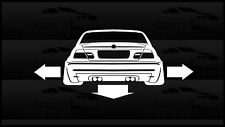 Down N Out Sticker Decal E46 BMW M3 328 325 M52 S54 Slammed Stance Low Wide CSL