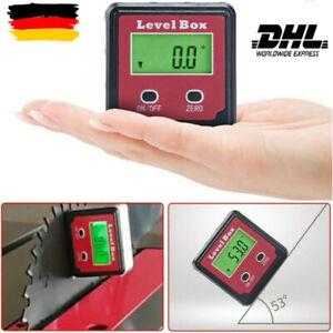 Neu Magnetic Digital Protractor Inclinometer Level Box Angle Finder Bevel Box DE