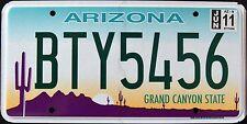 "ARIZONA "" GRAND CANYON STATE "" BTY5456 "" MINT AZ Graphic License Plate"