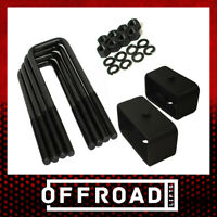 "Rear Lift Kit 3"" Steel Blocks w/ 10"" U-Bolts for 1987-2004 Dodge Dakota 4WD"