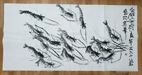 CHINESE WATERCOLOR PAINTING {SHRIMP}