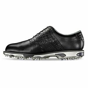 FootJoy Men's DryJoys Tour Golf Shoes, Black/Black Croc, Size 10.5 Z2JT